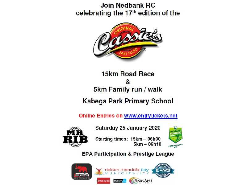 Cassies 15km and 5km Family Run
