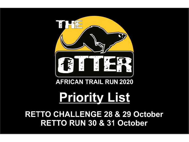 Otter African Trail Run 2019 - Priority List